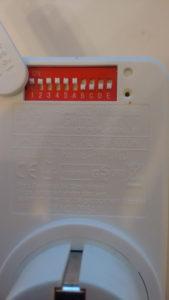 DIP-Schalter der ELRO-Funksteckdose
