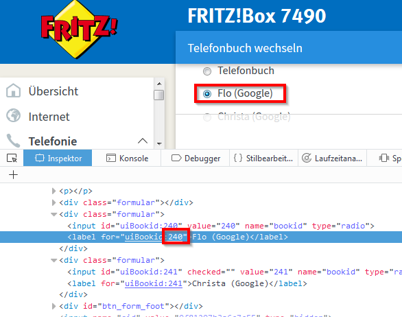 Smarthome: Anrufer-Name bei Fritz!Box bei Anruf via TTS auf Webradio