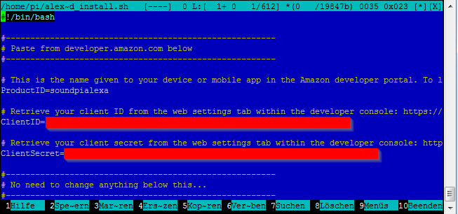 Amazon Echo / Alexa am Raspberry Pi 3 mit Hifiberry AMP+ auf